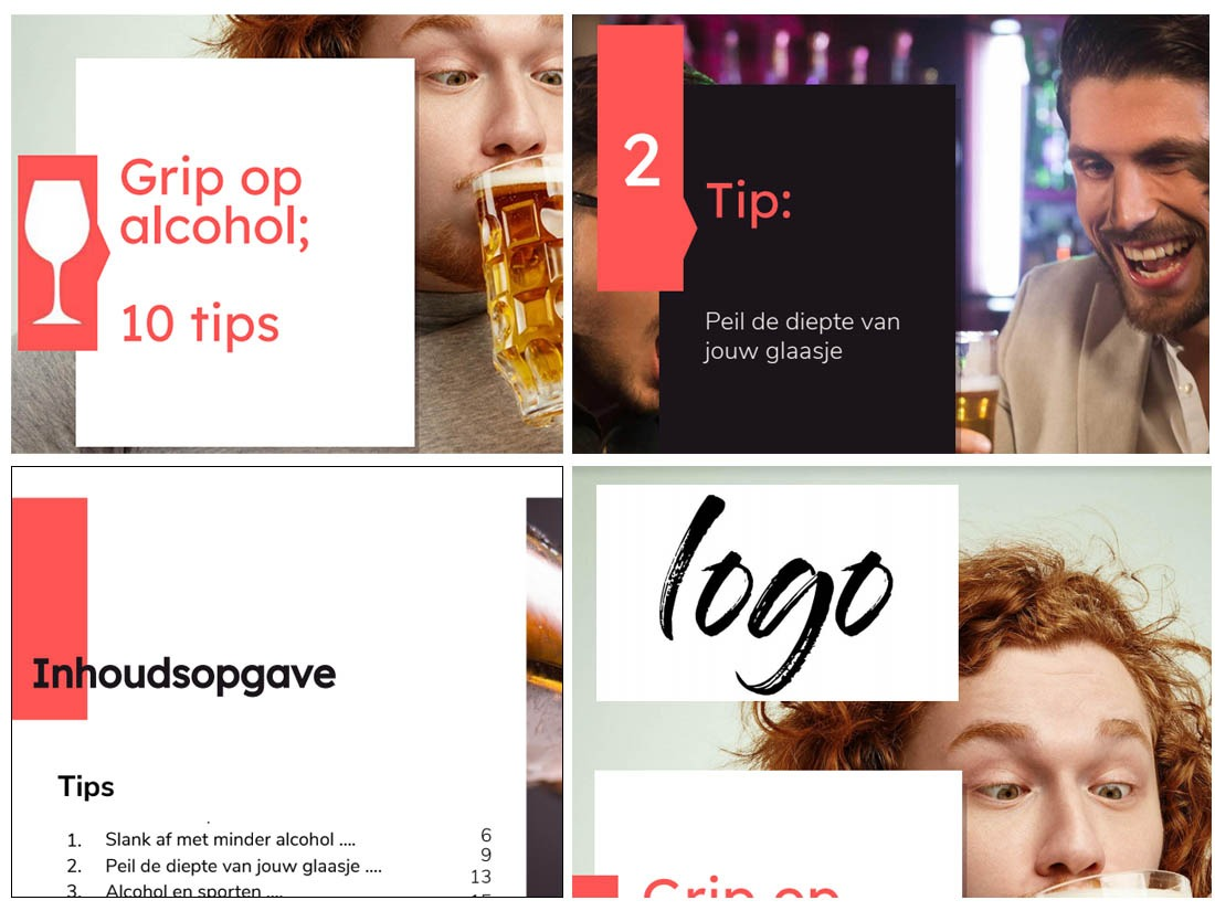 White label eBook-service - 'Grip op alcohol' 1